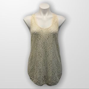 WILFRED Lace Racerback Tank Top Size Large